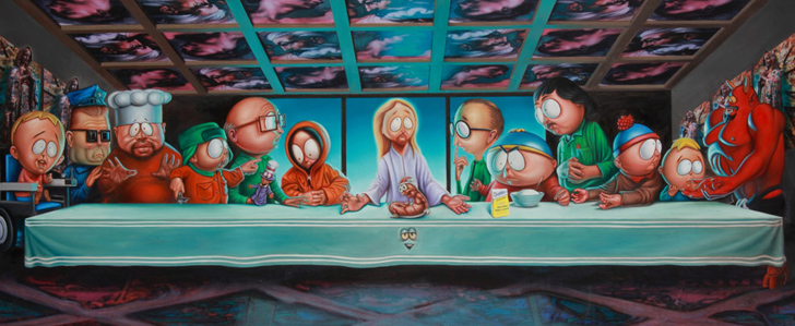 Last Supper in South Park von Ron English