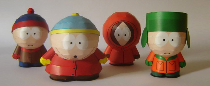 South Park Papercraft von Cláudio Dias