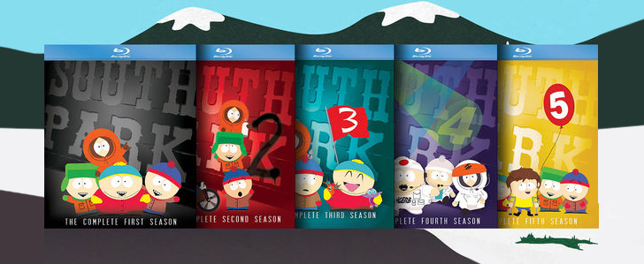 South Park season 1, 2, 3, 4, 5 Blu-ray