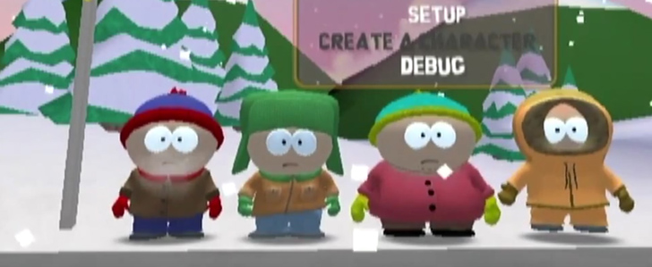 Unfinished South Park game