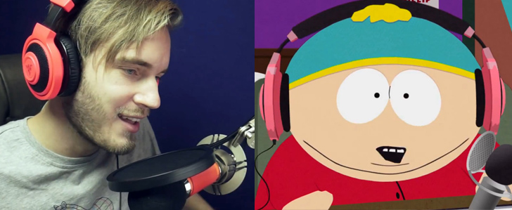 YouTuber PewDiePie in South Park