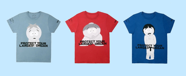Marc Jacobs South Park T-Shirts: Protect the Skin you're in