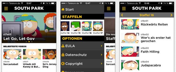 Deutsche South Park App