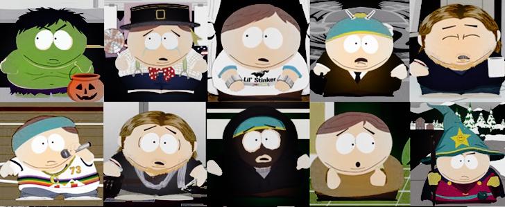 Eric Cartmans Kostüme