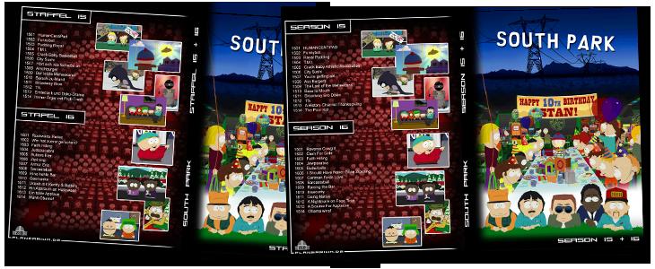 Eigene South Park DVD Cover