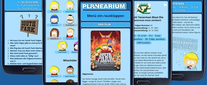 Planearium.de Mobile Optimierung