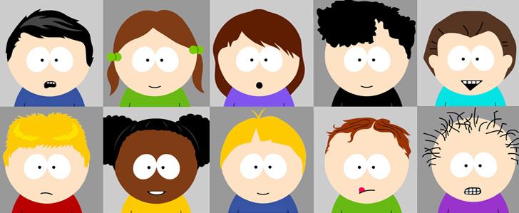 SP-Studio Frisuren Update für South Park Charaktere