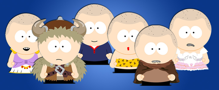 South Park Kostüme im SP-Studio