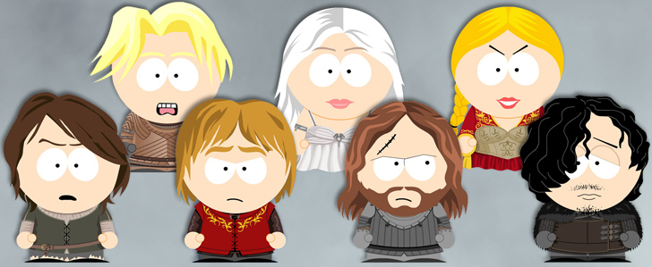 Game of Thrones South Park style