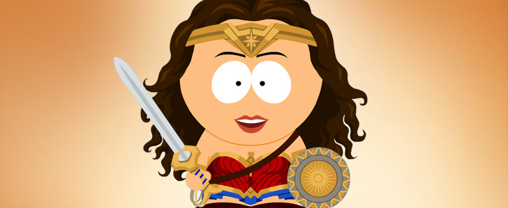 Wonder Woman X South Park