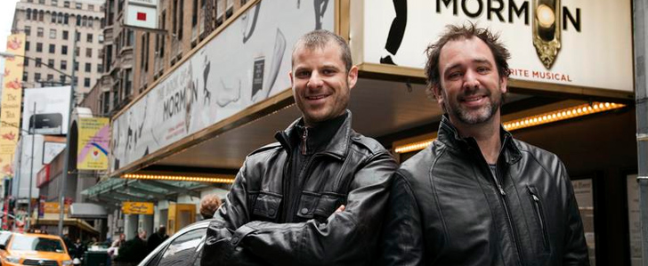 Matt Stone und Trey Parker am Broadway, 2011